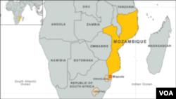 Peta wilayah perbatasan Mozambik (Foto: dok).