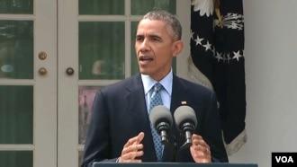 سخنرانی باراک اوباما رئیس جمهوری ایالات متحده در واشنگتن پس اعلام نتیجه مذاکرات اتمی لوزان - ۱۳ فروردین ۱۳۹۴