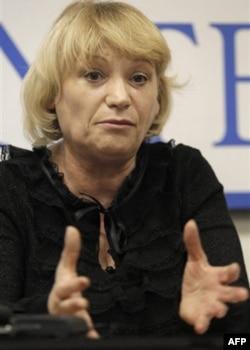 """""""Golos"""" saylovlarni kuzatuvchi mustaqil tashkilot rahbari Liliya Shibanova"""
