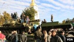 14 октября, на Михайловской площади Киева. Выставка «Сила Непокоренных