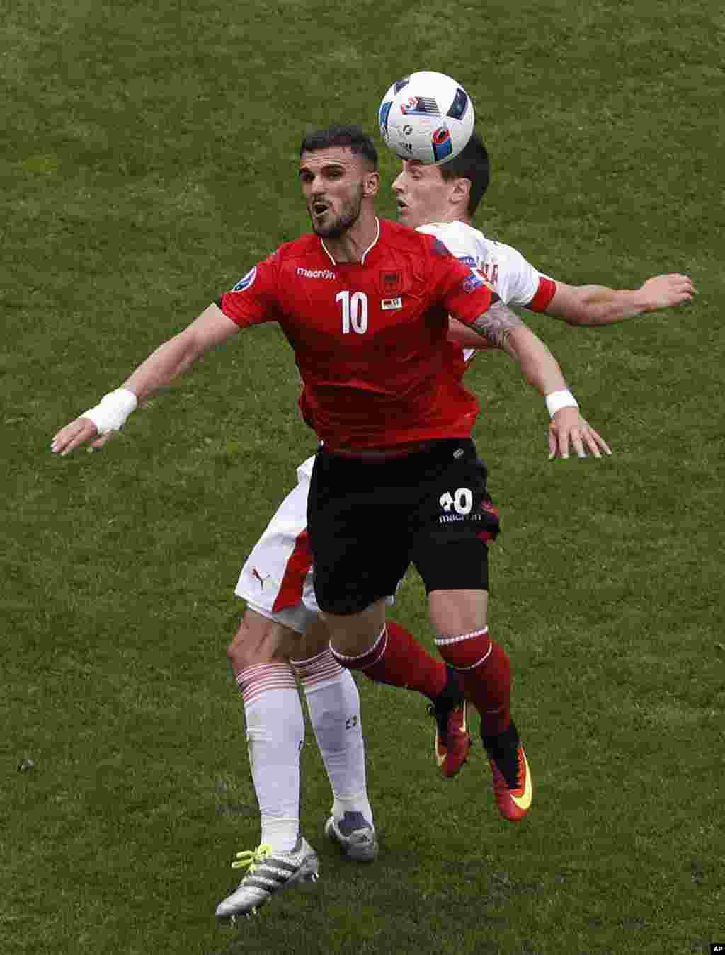 Soccer Euro 2016 Albania Switzerland
