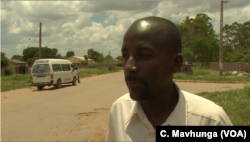 Clever Mundau says he supports the new traffic fines being introduced by the government. (Columbus Mavhunga/VOA)
