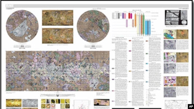 Geologic map of Jupiter moon, Io