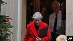 La première ministre britannique, Theresa May, le 3 décembre 2018. (AP Photo/Frank Augstein)