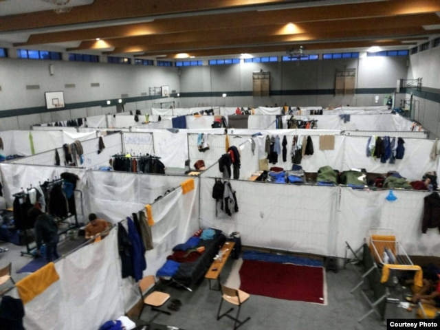 At this camp in eastern Germany, about 140 men share a partitioned gym while they wait, sometimes as long as six months, just to begin the process of establishing legal residence.