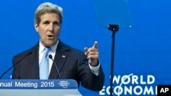 Держсекретар США на Світовому економічному форумі у Давосі, 24 січня 2015