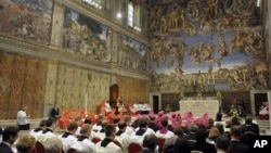 El papa Benedicto XVI dirigió la celebraciones de los 500 años de la Capilla Sixtina.