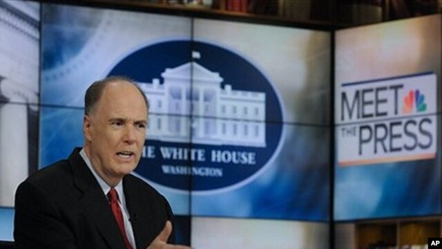 In this May 7, 2011, photo provided by NBC News, White House National Security Adviser Tom Donilon appears on NBC's 'Meet the Press' in Washington.