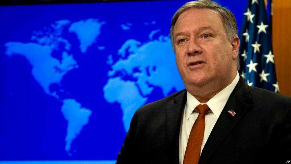 """Ngoại trưởng Mike Pompeo phát biểu nhân dịp công bố """"Báo cáo Nhân quyền Các nước"""" tại Bộ Ngoại giao Mỹ ở Washington, ngày 13/3/2019."""