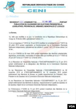 Commission électorale en RDC.
