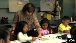 Children study a second language in school