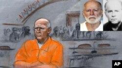 """James """"Whitey"""" Bulger fue hallado inconsciente, el martes por la mañana en una penitenciaría de Virginia Occidental."""