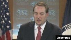 美国国务院新闻办公室主任文特雷尔(美国之音视频截图)