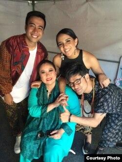 Vidi Aldiano, Angel Pieters, Ira Maya Sopha dan Paul Amron ikut meramaikan acara Indo Day di San Francisco (Foto: Paul Amron)