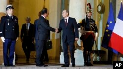Франсуа Олланд и Владимир Путин. Франция, 5 июня 2014г.