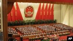 中国名义上的最高权力机构,被讥为橡皮图章的人大举行大会