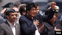 En La Paz, Ahmadinejad y Evo Morales solicitaron el desarme de los Estados con Armas Nucleares.