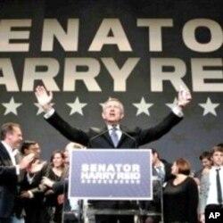 Le sénateur Harry Reid après sa réélection