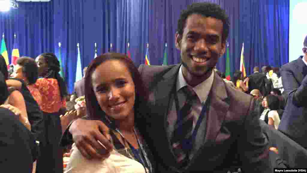 Graça Sanches et Joel Almeida, deux participants au YALI 2015, Washington, 3 août 2015.