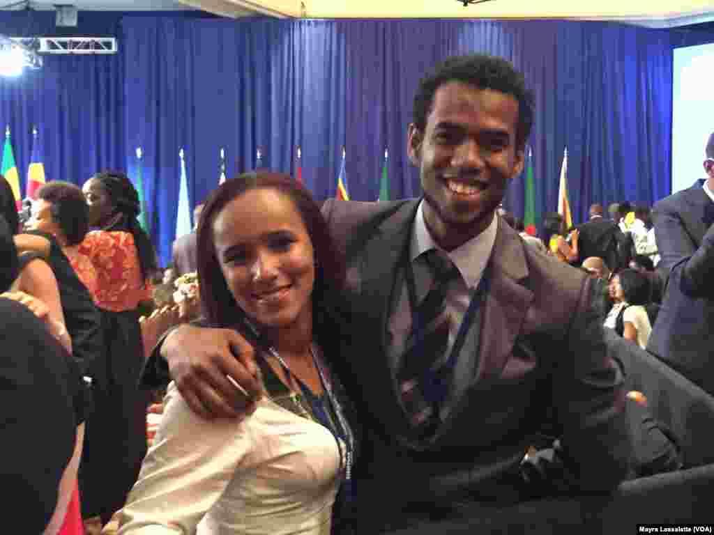 Graça Sanches e Joel Almeida, participantes de Cabo Verde no Yali 2015