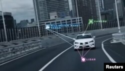 丰田汽车正在进行测试。
