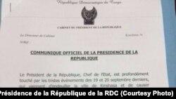 Déclaration du président Joseph Kabila