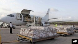 Program Pangan Dunia PBB (WFP) mengirimkan bantuan makanan ke salah satu wilayah yang membutuhkan bantuan (Foto: dok). WFP telah mengirimkan bantuan pangan pertama untuk daerah Korea Utara yang dilanda banjir.