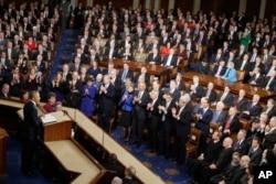 바락 오바마 미국 대통령이 20일 워싱턴 의회 상·하원 합동회의에서 새해 국정연설을 했다.
