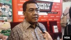 Wakil Ketua Umum Kadin Indonesia, Yugi Prayanto berharap pemerintah merespons cepat pelemahan nilai tukar rupiah untuk kepastian berinvestasi. Hal tersebut disampaikannya dalam dikusi di Jakarta, Sabtu (14/03/2015). (VOA/Iris Gera)