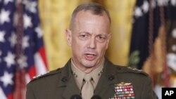 Tư lệnh các lực lượng Hoa Kỳ tại Afghanistan, Tướng John Allen