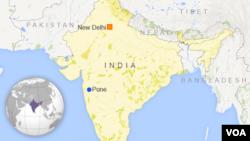 Bản đồ quận Pune, Ấn Độ, nơi xảy ra vụ đất chuồi