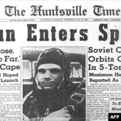 """Sovet Ittifoqining birinchi sun'iy yo'ldoshi """"Sputnik""""ni fazoga chiqargani, 3 yil o'tib Gagarinning parvozi AQSh uchun jiddiy zarba bo'lgan."""