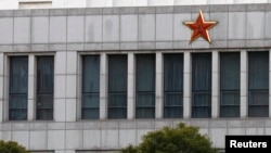 Part of the building of 'Unit 61398', a secretive Chinese military unit accused of cyber espionage in Shanghai