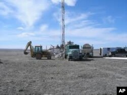 Uranium exploration drilling. (file)