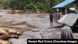 Banjir di Kabupaten Pokot Barat, Kenya, 23 November 2019. (Foto: Palang Merah)