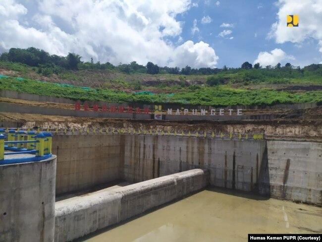 Bendungan Napun Gete di Kabupaten Sikka, Provinsi Nusa Tenggara Timur (NTT), Selasa, 23 Februari 2021. Napun Gete adalah bendungan ke-3 yang diresmikan Presiden untuk memenuhi kebutuhan air di Kabupaten Sikka. (Foto: Humas Kemen PUPR)