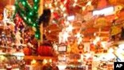 布朗纳商场出售的圣诞节物品