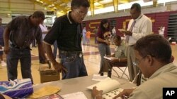 푸에르토리코의 수도 산 후앙의 한 선거 현장. (자료사진)