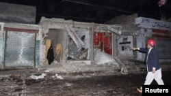 Mesto samoubilačkog napada u Ravalpindiju, u blizini Islamabada
