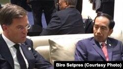 Presiden Joko Widodo dan Perdana Menteri Belanda Mark Rutte (Foto: Biro Setpres)