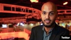 Al-Jazeera journalist Hamza Mohamed is seen in a picture from his Twitter account. (Source - @Hamza_Africa)