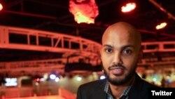 Le journaliste d'Al-Jazeera Hamza Mohamed. (Source - @Hamza_Africa)