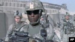 驻阿富汗美军资料照。