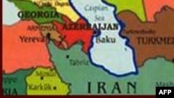 Azərbaycan və İran xəritəsi