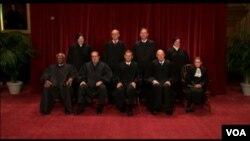 美國最高法院大法官在斯加里亞去世前資料照。