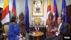 柬埔寨政府发言人派西潘在2019年8月时接受美国之音的专访.