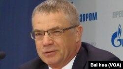 俄罗斯天然气工业公司副总裁兼天然气出口公司总裁亚历山大-梅德韦杰夫 (美国之音白桦拍摄)