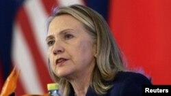 Menteri Luar Negeri AS Hillary Clinton dalam penutupan dialog kerjasama strategis AS-Tiongkok di Beijing (4/5).