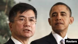 U.S. President Obama and Commerce Secretary Gary Locke