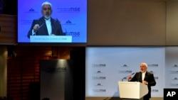 Ministar spoljnih poslova Irana Mohammad Javad Zarif govori tokom Minhenske bezbednosne konferencije u Mihnehu, Nemačka, 17. februara 2019.
